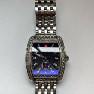 Large Urban Vintage Michele diamond watch